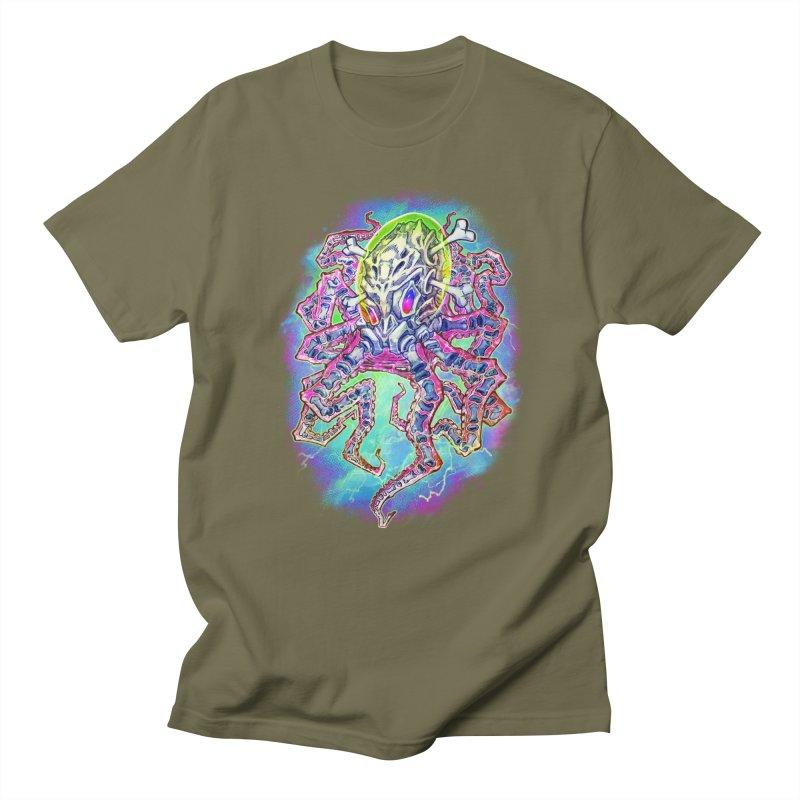 Skeleton Octopus Alien Men's Regular T-Shirt by villainmazk's Artist Shop
