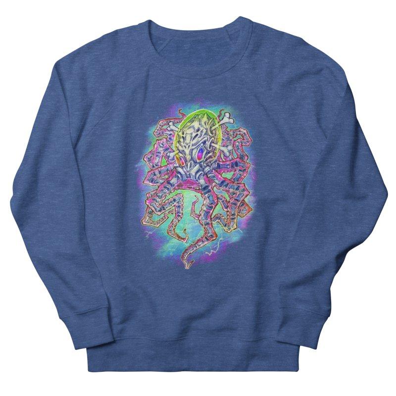 Skeleton Octopus Alien Women's French Terry Sweatshirt by villainmazk's Artist Shop