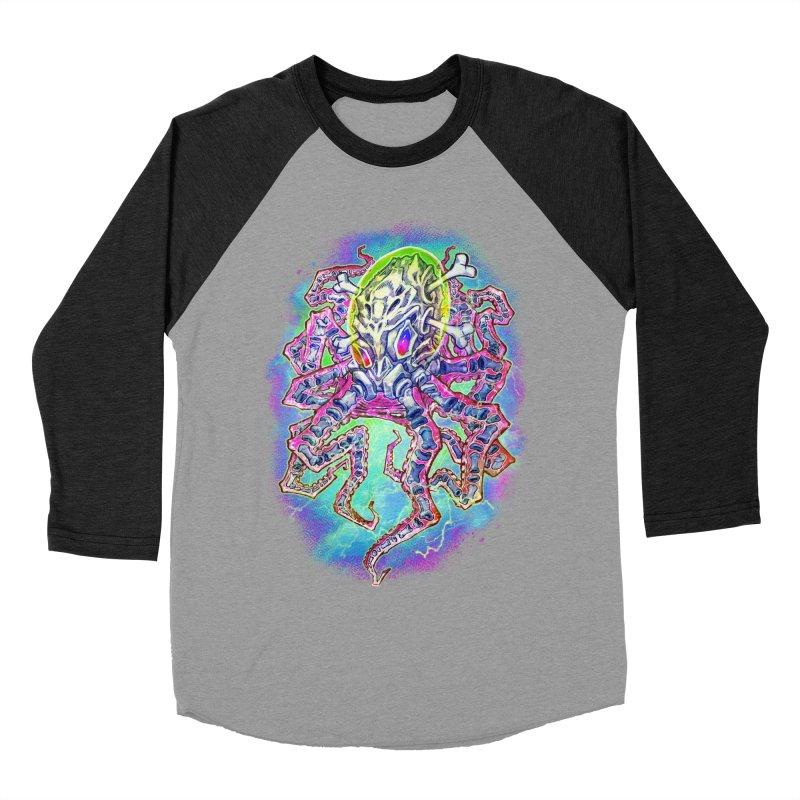 Skeleton Octopus Alien Men's Baseball Triblend Longsleeve T-Shirt by villainmazk's Artist Shop