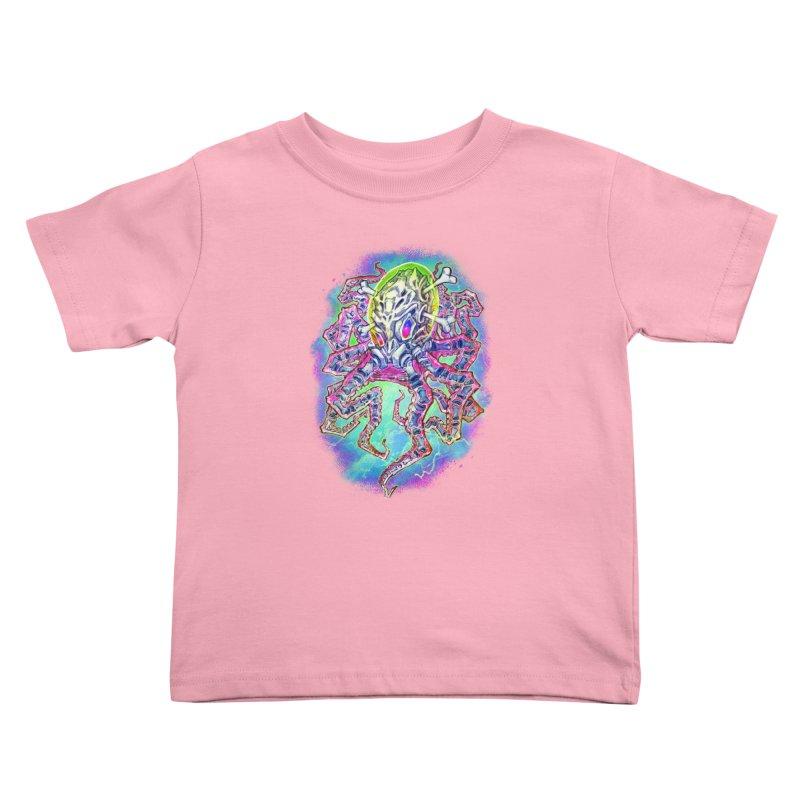 Skeleton Octopus Alien Kids Toddler T-Shirt by villainmazk's Artist Shop