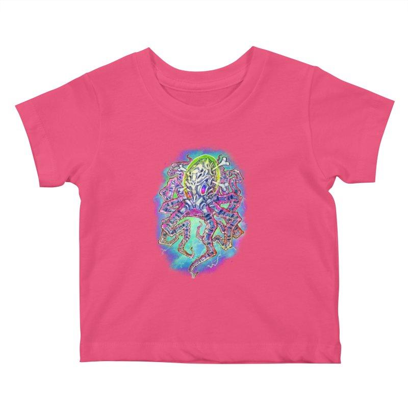 Skeleton Octopus Alien Kids Baby T-Shirt by villainmazk's Artist Shop