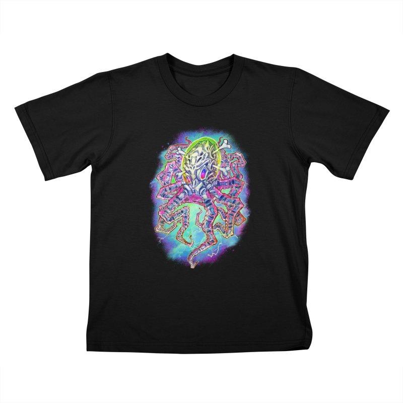 Skeleton Octopus Alien Kids T-Shirt by villainmazk's Artist Shop
