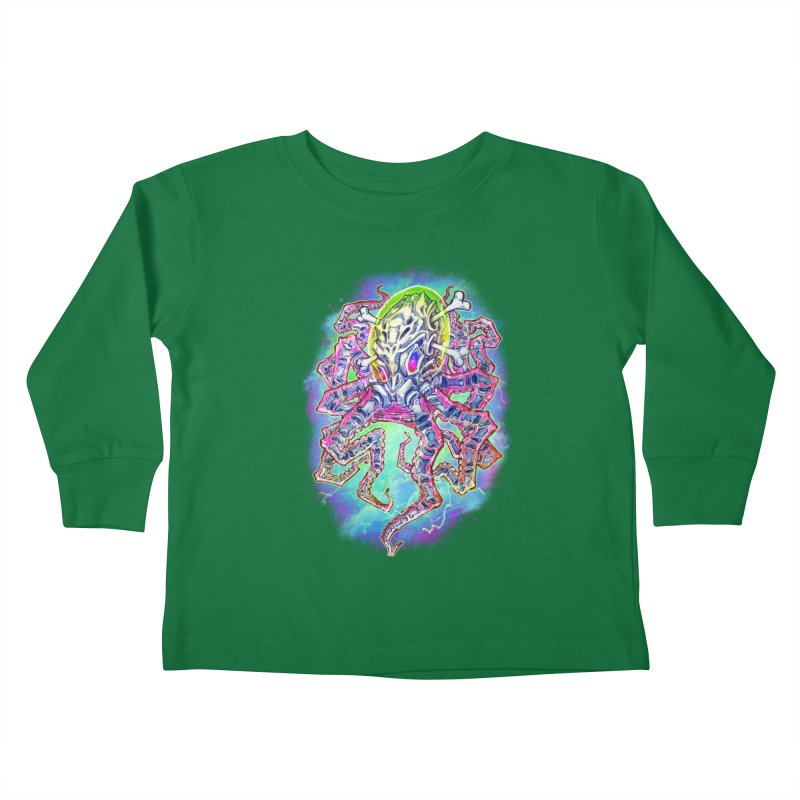 Skeleton Octopus Alien Kids Toddler Longsleeve T-Shirt by villainmazk's Artist Shop