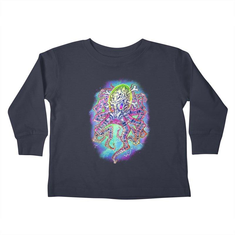 Skeleton Octopus Alien Kids Toddler Longsleeve T-Shirt by villainmazk's Artist Shop