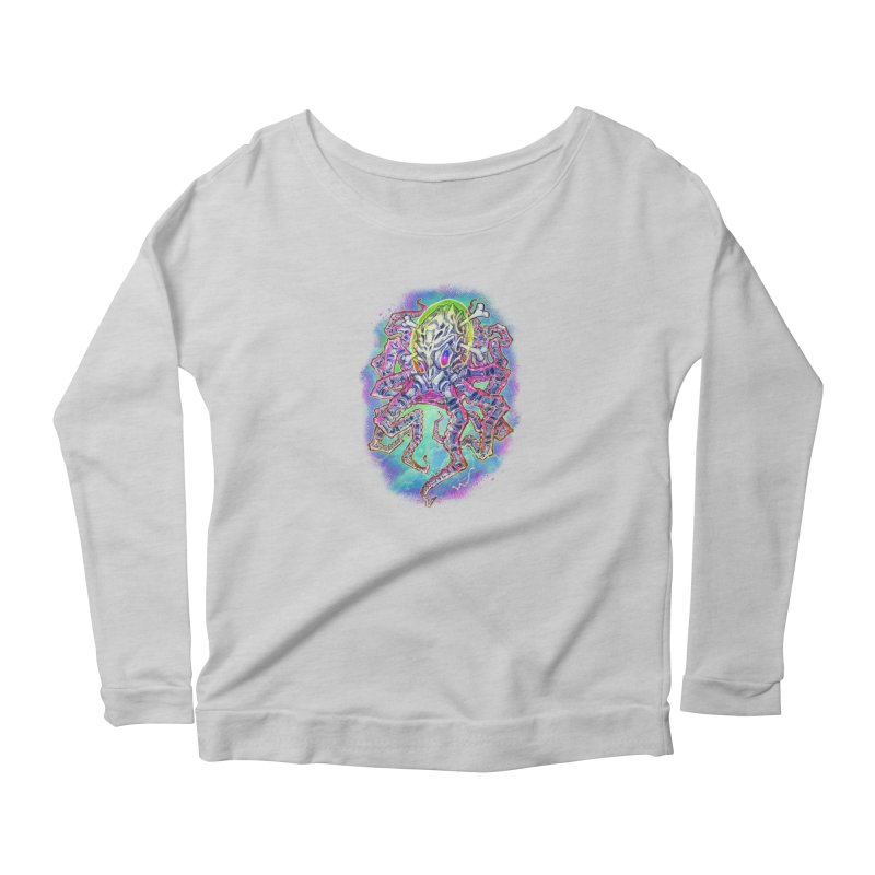 Skeleton Octopus Alien Women's Scoop Neck Longsleeve T-Shirt by villainmazk's Artist Shop