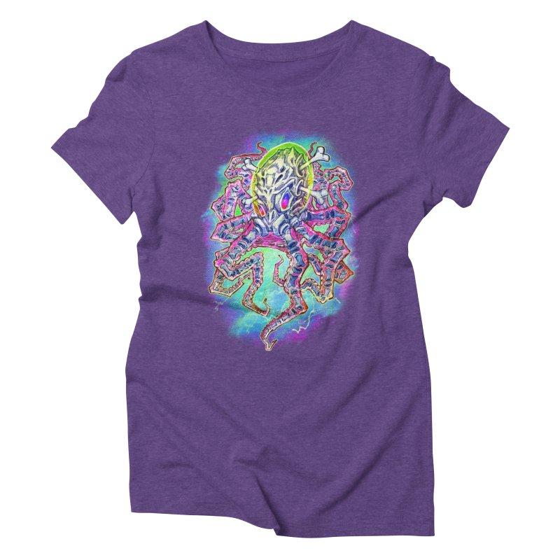 Skeleton Octopus Alien Women's Triblend T-Shirt by villainmazk's Artist Shop