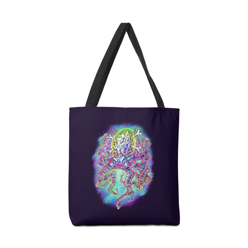 Skeleton Octopus Alien Accessories Tote Bag Bag by villainmazk's Artist Shop