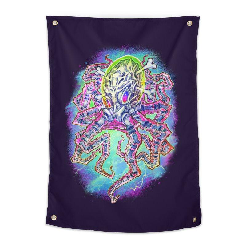 Skeleton Octopus Alien Home Tapestry by villainmazk's Artist Shop