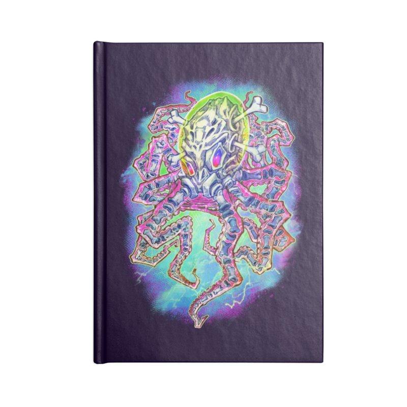 Skeleton Octopus Alien Accessories Lined Journal Notebook by villainmazk's Artist Shop