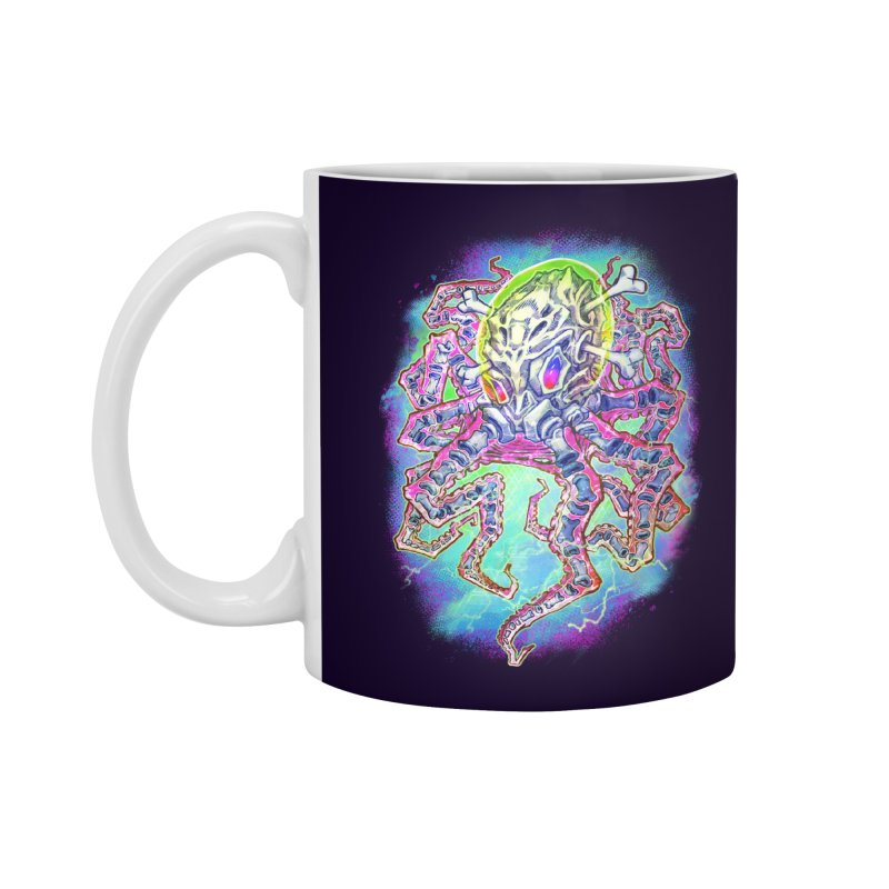 Skeleton Octopus Alien Accessories Mug by villainmazk's Artist Shop