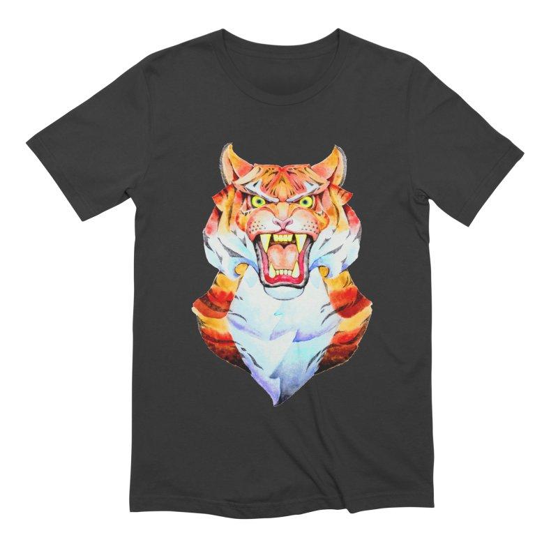 Tiger roar Men's Extra Soft T-Shirt by villainmazk's Artist Shop