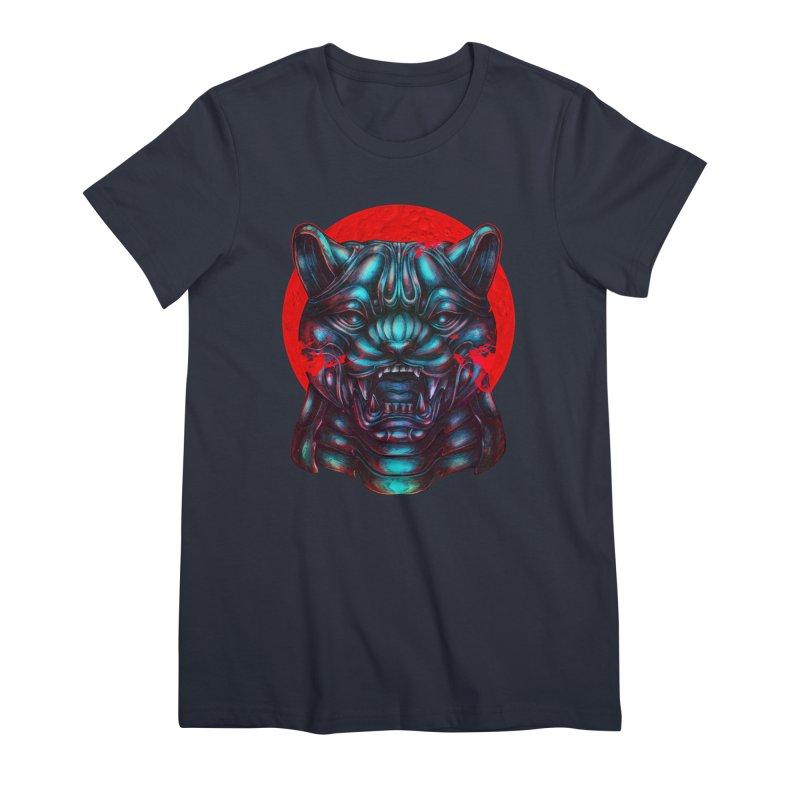 Blood Moon Panther Women's Premium T-Shirt by villainmazk's Artist Shop