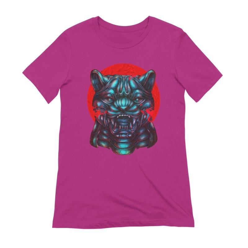 Blood Moon Panther Women's Extra Soft T-Shirt by villainmazk's Artist Shop