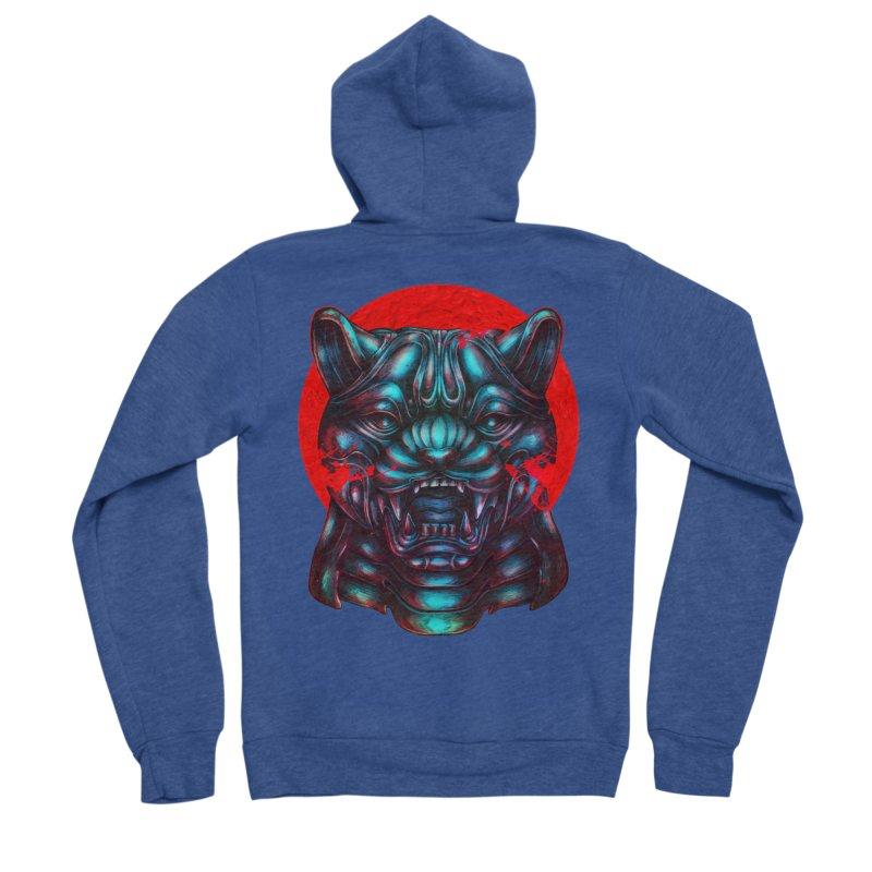 Blood Moon Panther Men's Sponge Fleece Zip-Up Hoody by villainmazk's Artist Shop