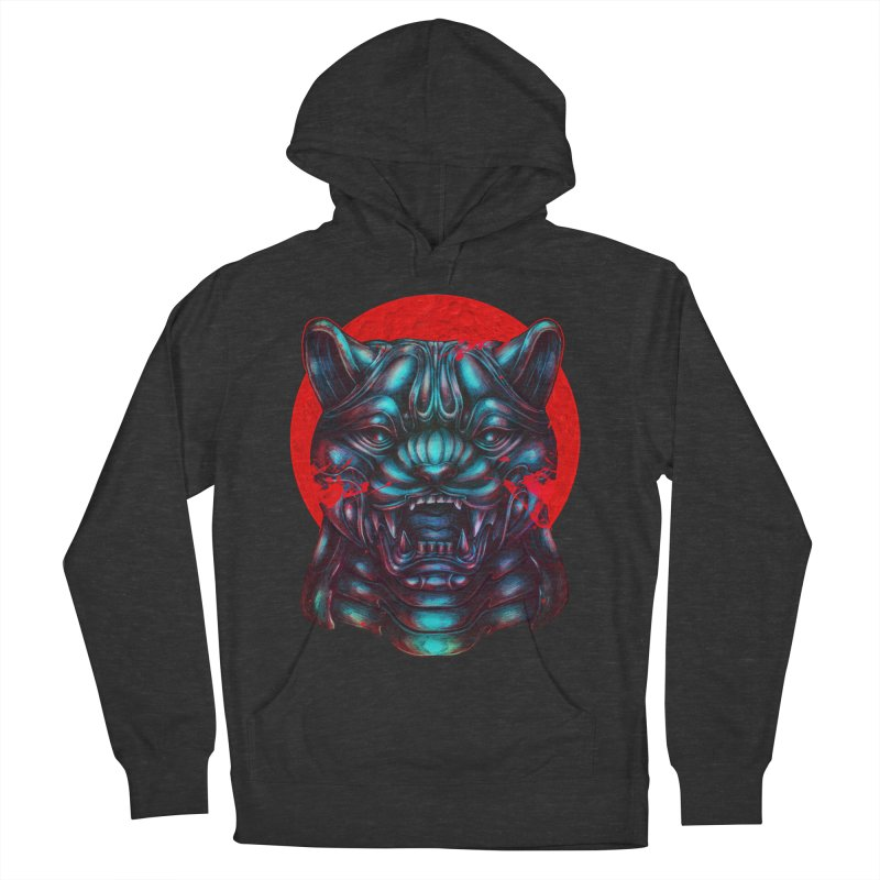 Blood Moon Panther Women's French Terry Pullover Hoody by villainmazk's Artist Shop