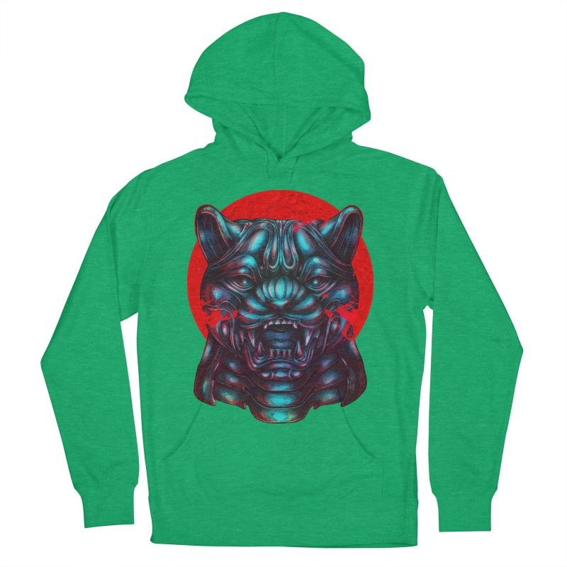 Blood Moon Panther Men's French Terry Pullover Hoody by villainmazk's Artist Shop