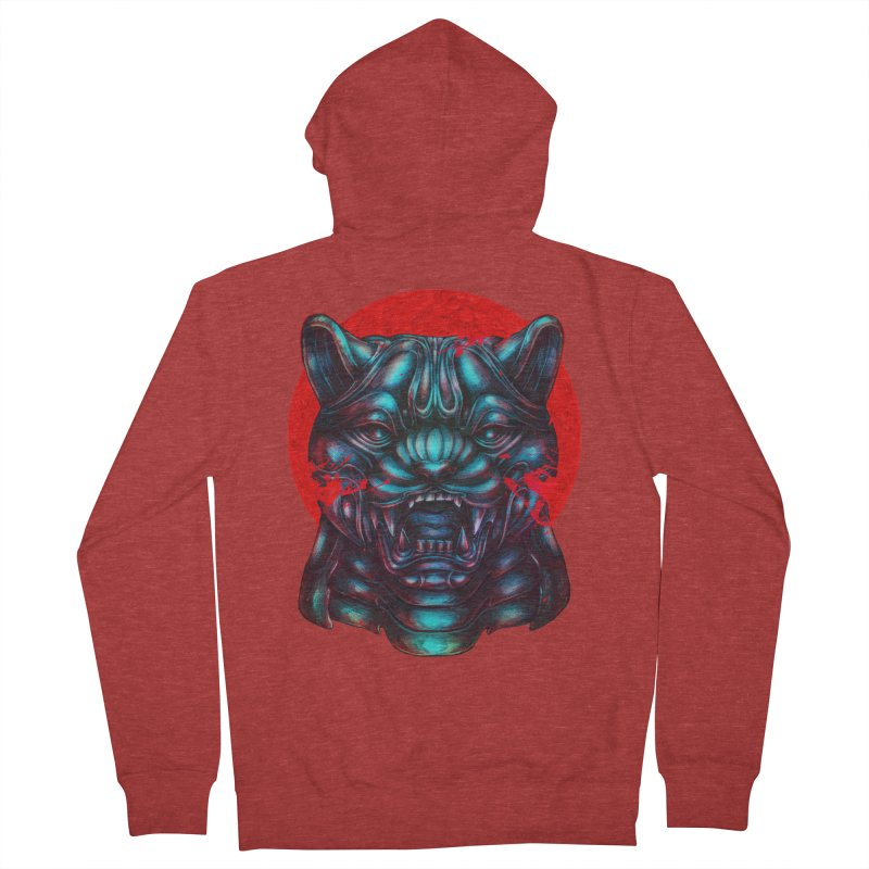 Blood Moon Panther Women's French Terry Zip-Up Hoody by villainmazk's Artist Shop