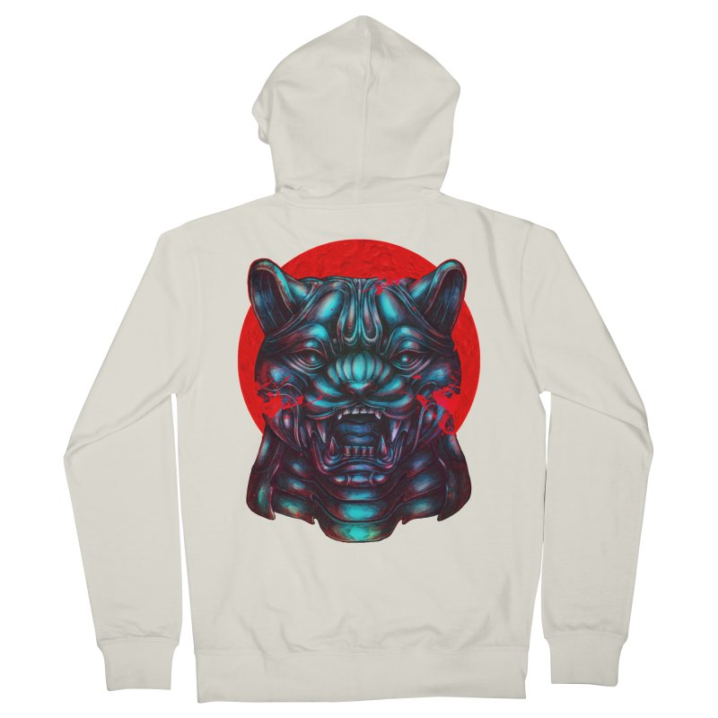 Blood Moon Panther Men's French Terry Zip-Up Hoody by villainmazk's Artist Shop