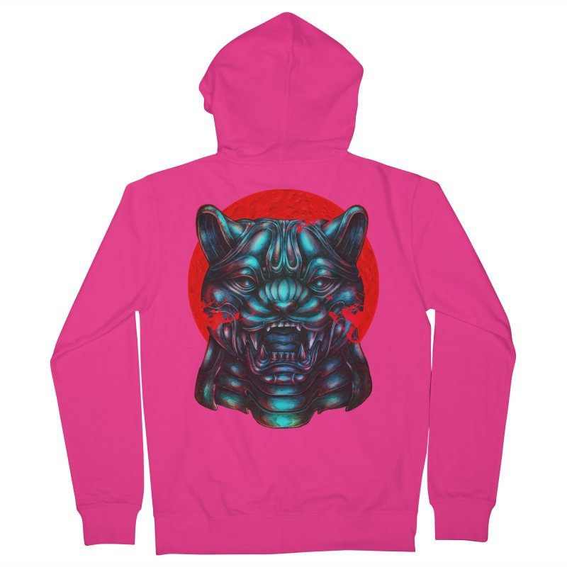 Blood Moon Panther Men's Zip-Up Hoody by villainmazk's Artist Shop