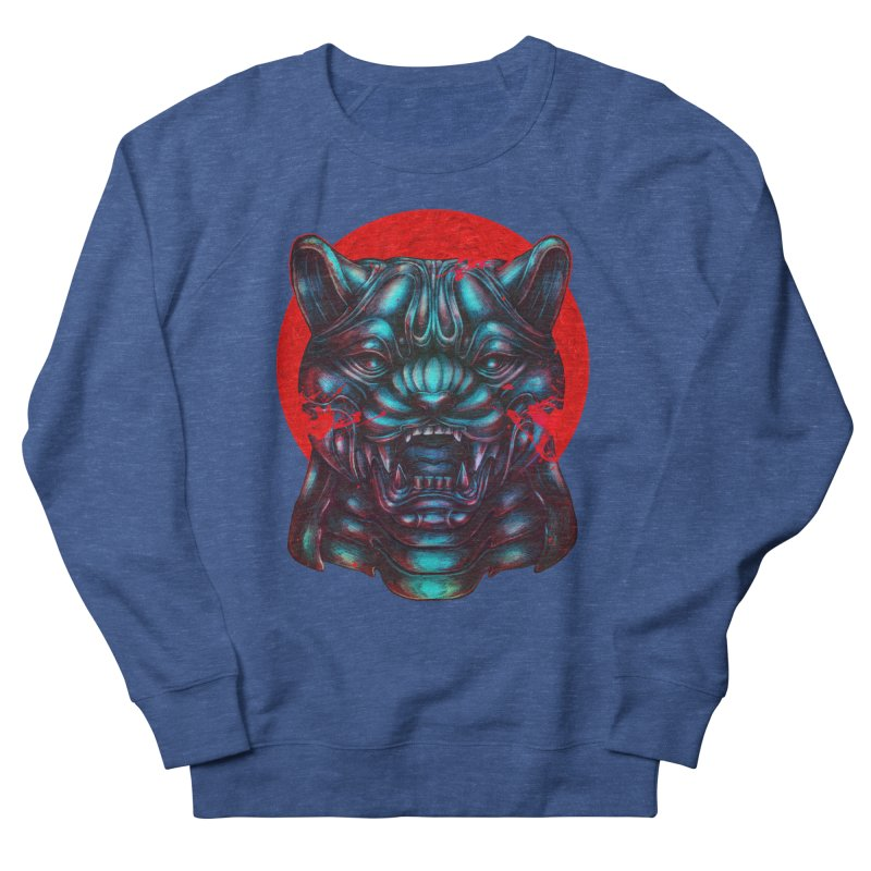 Blood Moon Panther Men's French Terry Sweatshirt by villainmazk's Artist Shop
