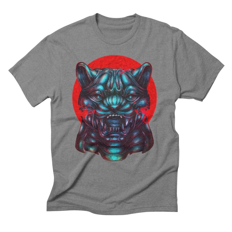 Blood Moon Panther Men's Triblend T-Shirt by villainmazk's Artist Shop