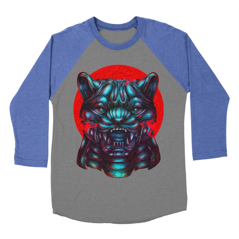 Blood Moon Panther Women's Baseball Triblend Longsleeve T-Shirt by villainmazk's Artist Shop