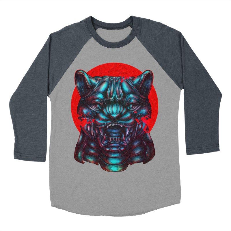 Blood Moon Panther Women's Baseball Triblend Longsleeve T-Shirt by villainmazk's Artist Shop