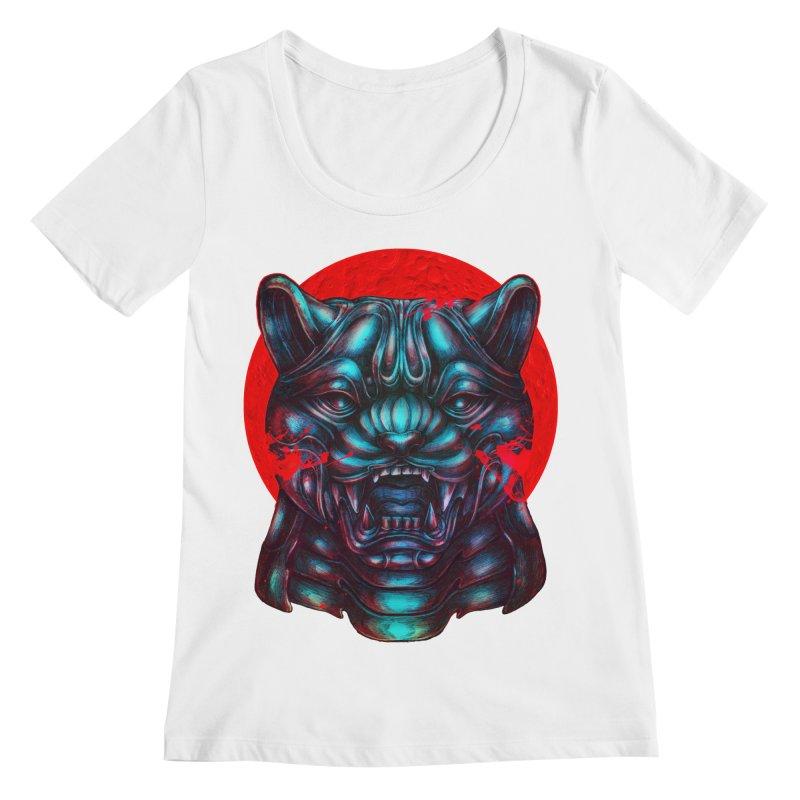Blood Moon Panther Women's Regular Scoop Neck by villainmazk's Artist Shop