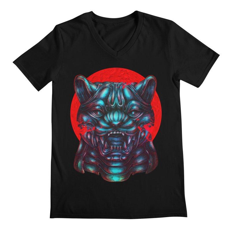 Blood Moon Panther Men's Regular V-Neck by villainmazk's Artist Shop