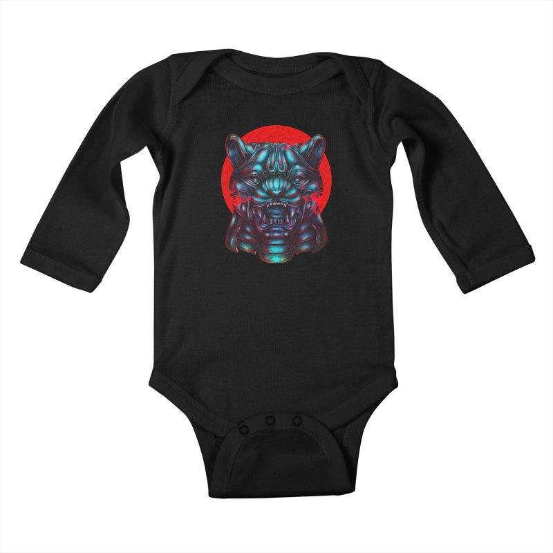 Blood Moon Panther Kids Baby Longsleeve Bodysuit by villainmazk's Artist Shop