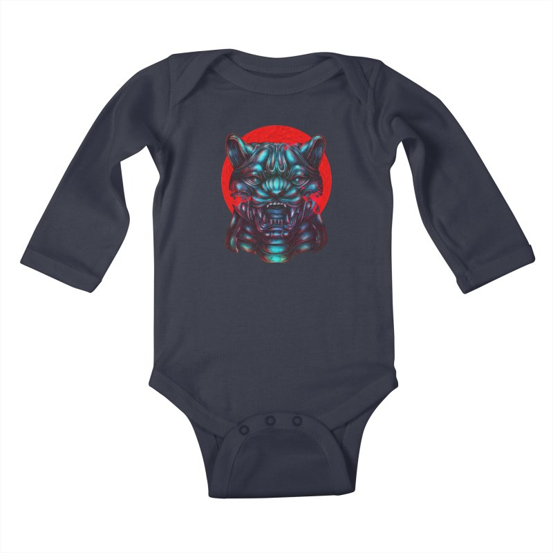 Blood Moon Panther Kids Baby Longsleeve Bodysuit by villainmazk's Artist Shop