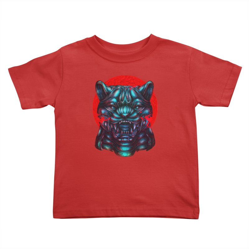 Blood Moon Panther Kids Toddler T-Shirt by villainmazk's Artist Shop
