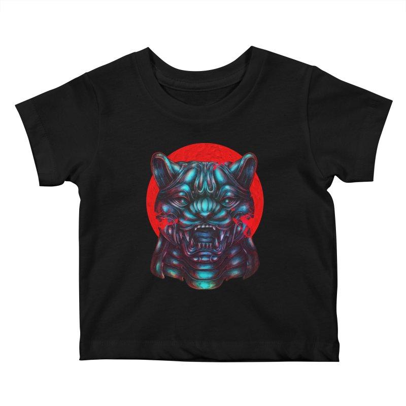 Blood Moon Panther Kids Baby T-Shirt by villainmazk's Artist Shop