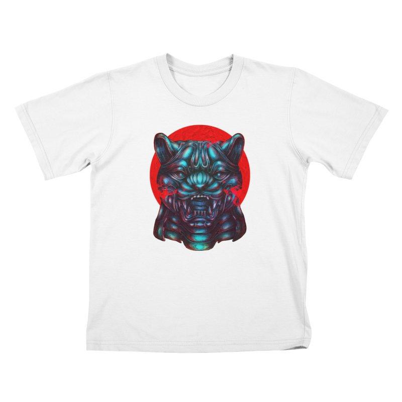 Blood Moon Panther Kids T-Shirt by villainmazk's Artist Shop