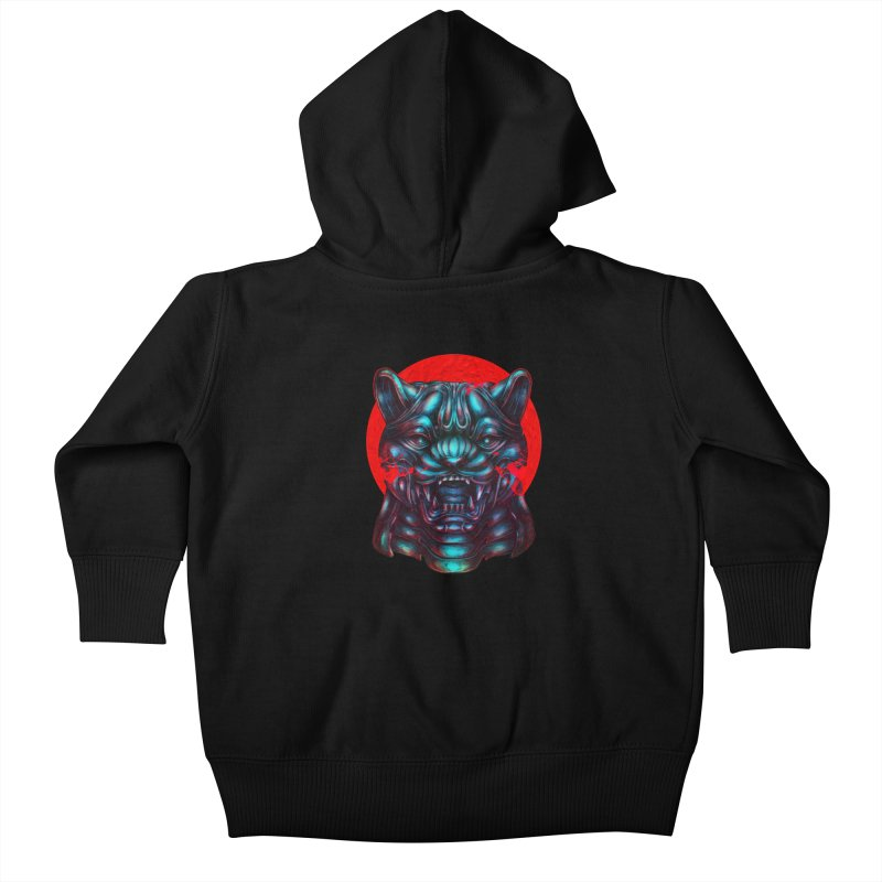 Blood Moon Panther Kids Baby Zip-Up Hoody by villainmazk's Artist Shop