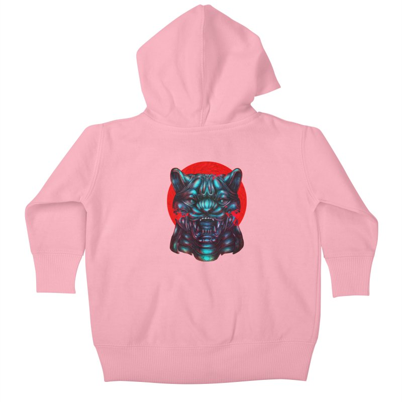 Blood Moon Panther Kids Baby Zip-Up Hoody by villainmazk's Artist Shop