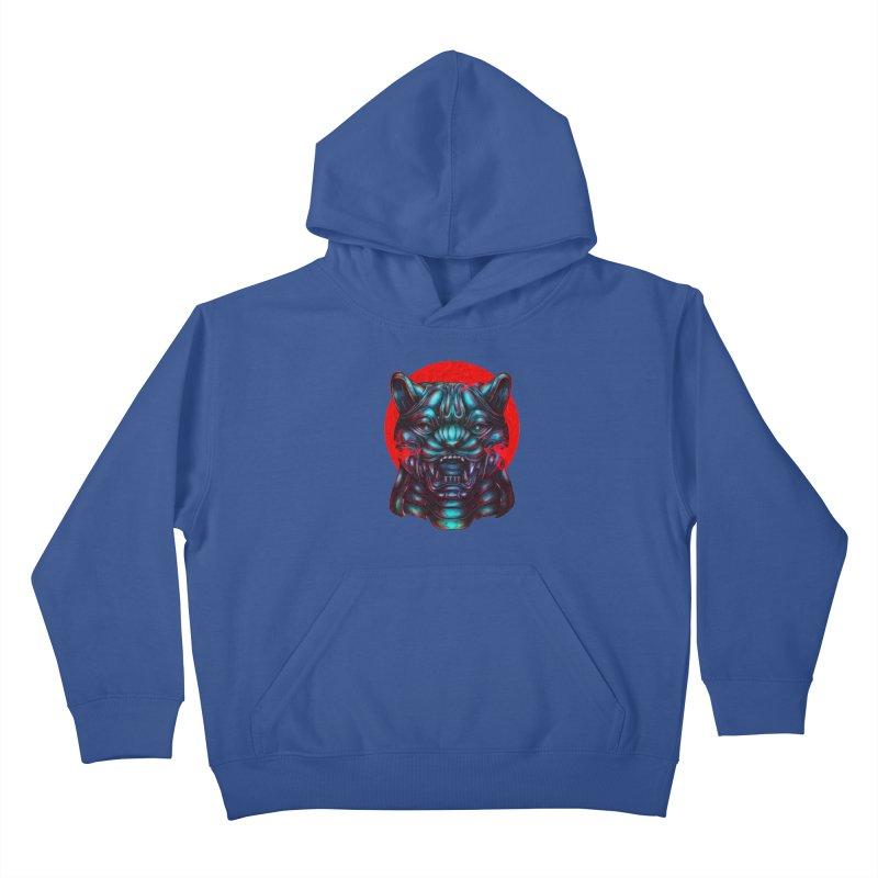 Blood Moon Panther Kids Pullover Hoody by villainmazk's Artist Shop
