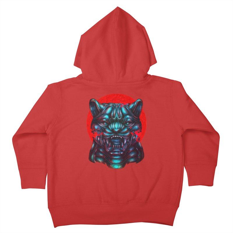 Blood Moon Panther Kids Toddler Zip-Up Hoody by villainmazk's Artist Shop