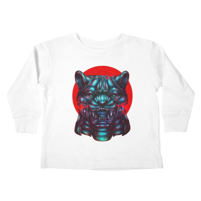 Blood Moon Panther Kids Toddler Longsleeve T-Shirt by villainmazk's Artist Shop