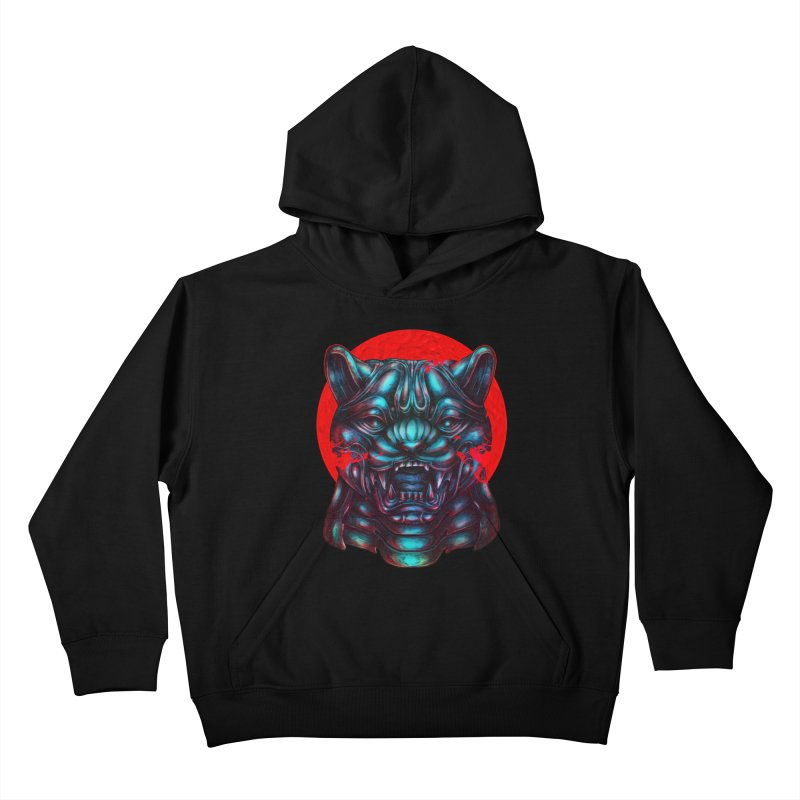 Blood Moon Panther Kids Pullover Hoody by villainmazk's Artist Shop