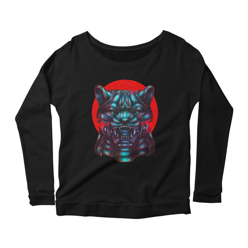Blood Moon Panther Women's Scoop Neck Longsleeve T-Shirt by villainmazk's Artist Shop