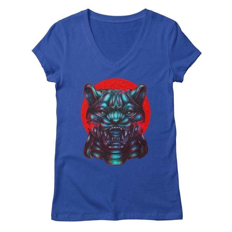 Blood Moon Panther Women's Regular V-Neck by villainmazk's Artist Shop