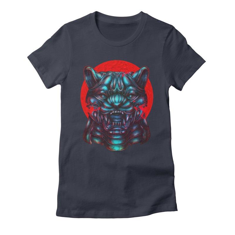 Blood Moon Panther Women's Fitted T-Shirt by villainmazk's Artist Shop