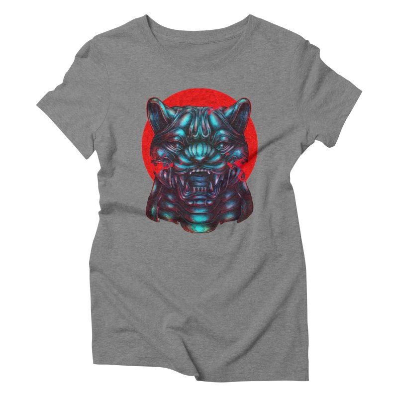 Blood Moon Panther Women's Triblend T-Shirt by villainmazk's Artist Shop