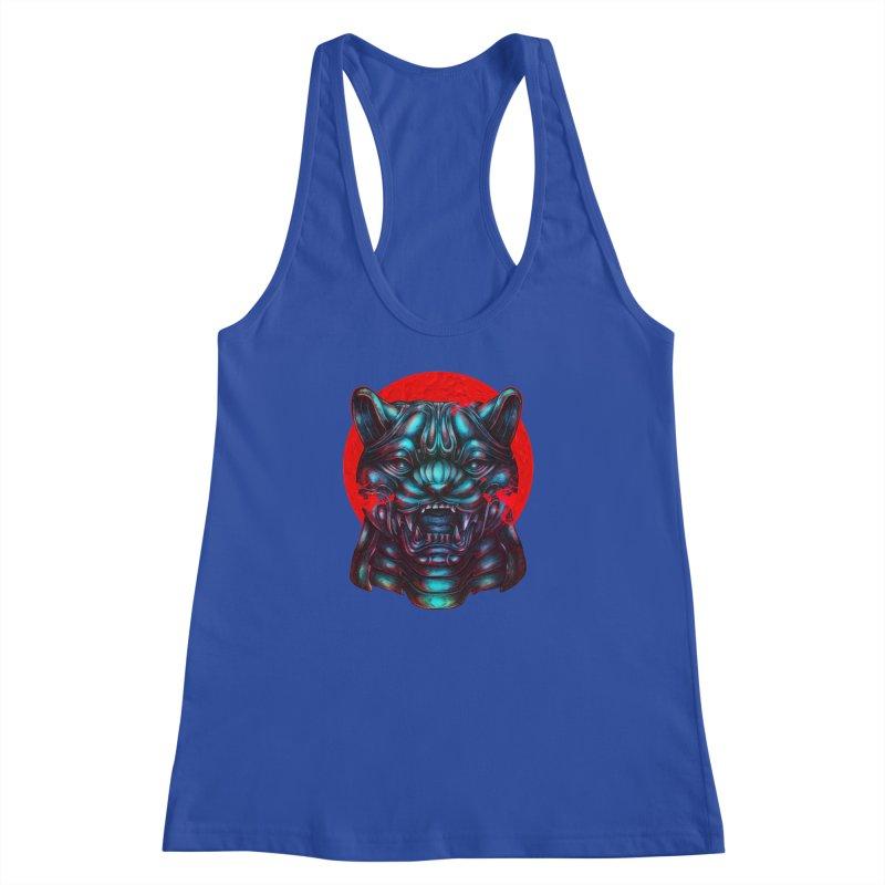 Blood Moon Panther Women's Racerback Tank by villainmazk's Artist Shop