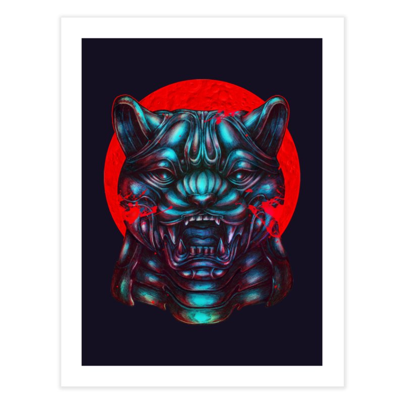 Blood Moon Panther Home Fine Art Print by villainmazk's Artist Shop