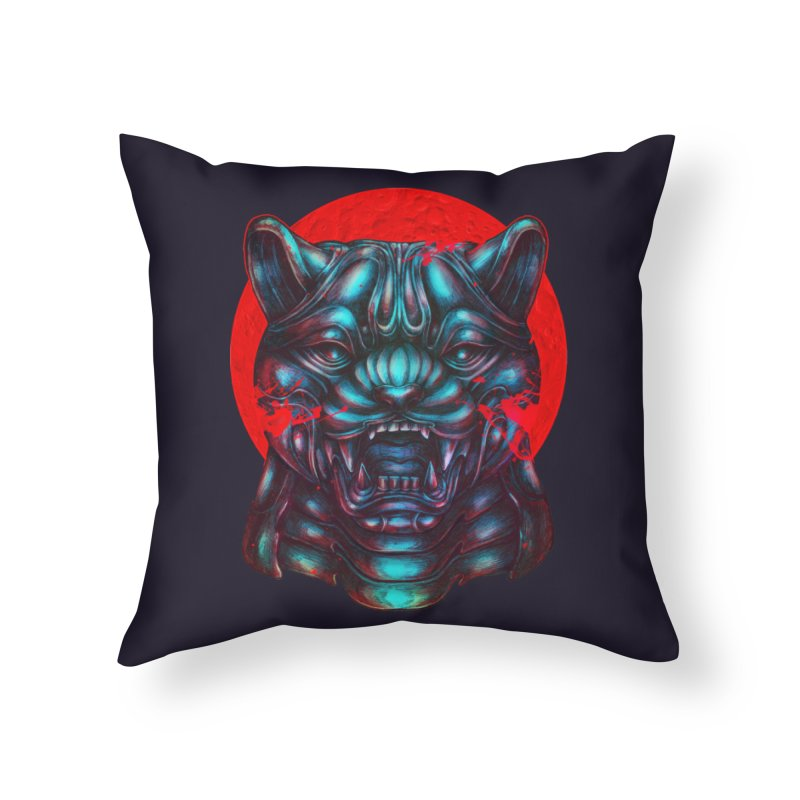 Blood Moon Panther Home Throw Pillow by villainmazk's Artist Shop