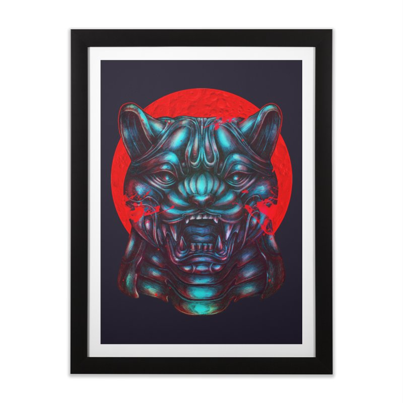Blood Moon Panther Home Framed Fine Art Print by villainmazk's Artist Shop