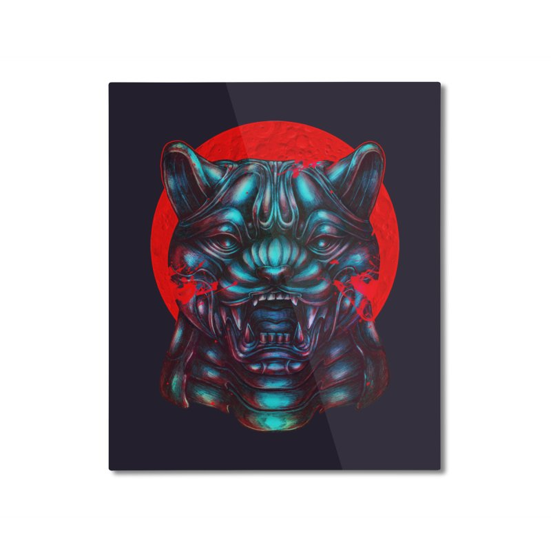 Blood Moon Panther Home Mounted Aluminum Print by villainmazk's Artist Shop