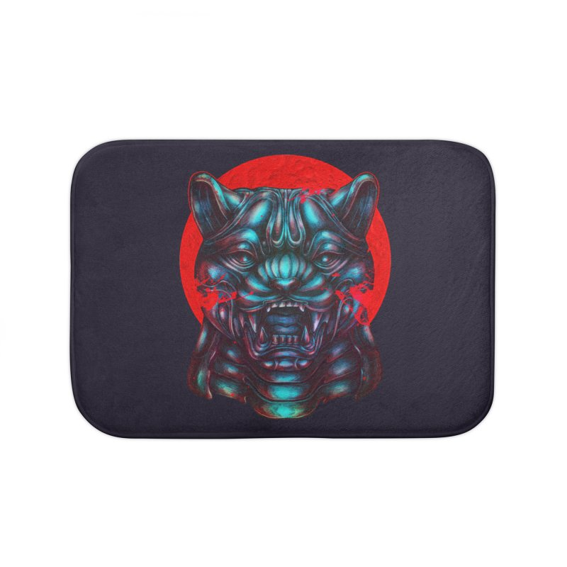 Blood Moon Panther Home Bath Mat by villainmazk's Artist Shop